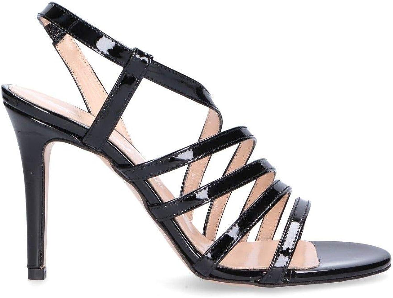 DI LUNA Woherrar 2384CK svart svart svart läder Sandaler  billigt och mode