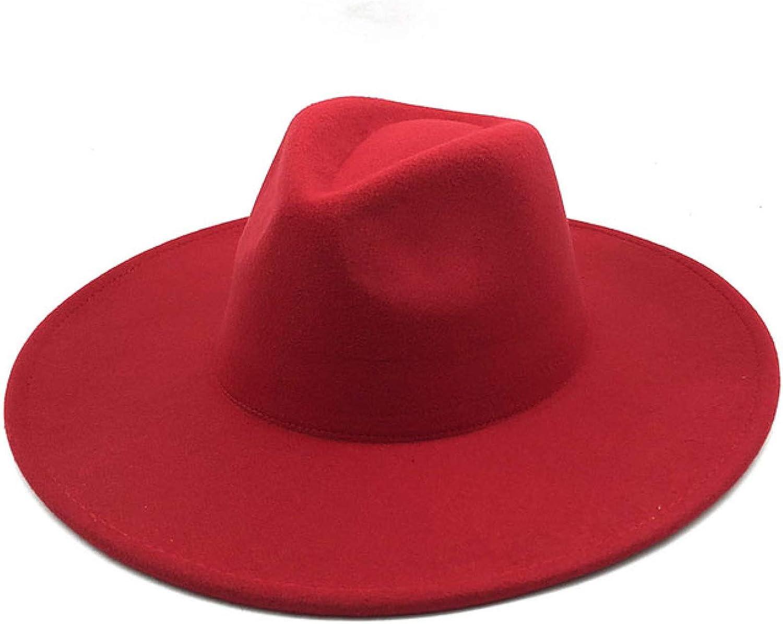 British Style Winter Wool Solid Classic Fedoras Men Women Panama Jazz Hat Wide Brim Western Cowboy Hat