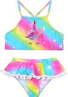 Nidoul Little Girls Swim Bikini Tankini Set Ruffle Swimsuit Swimwear Beach Bathing Suit