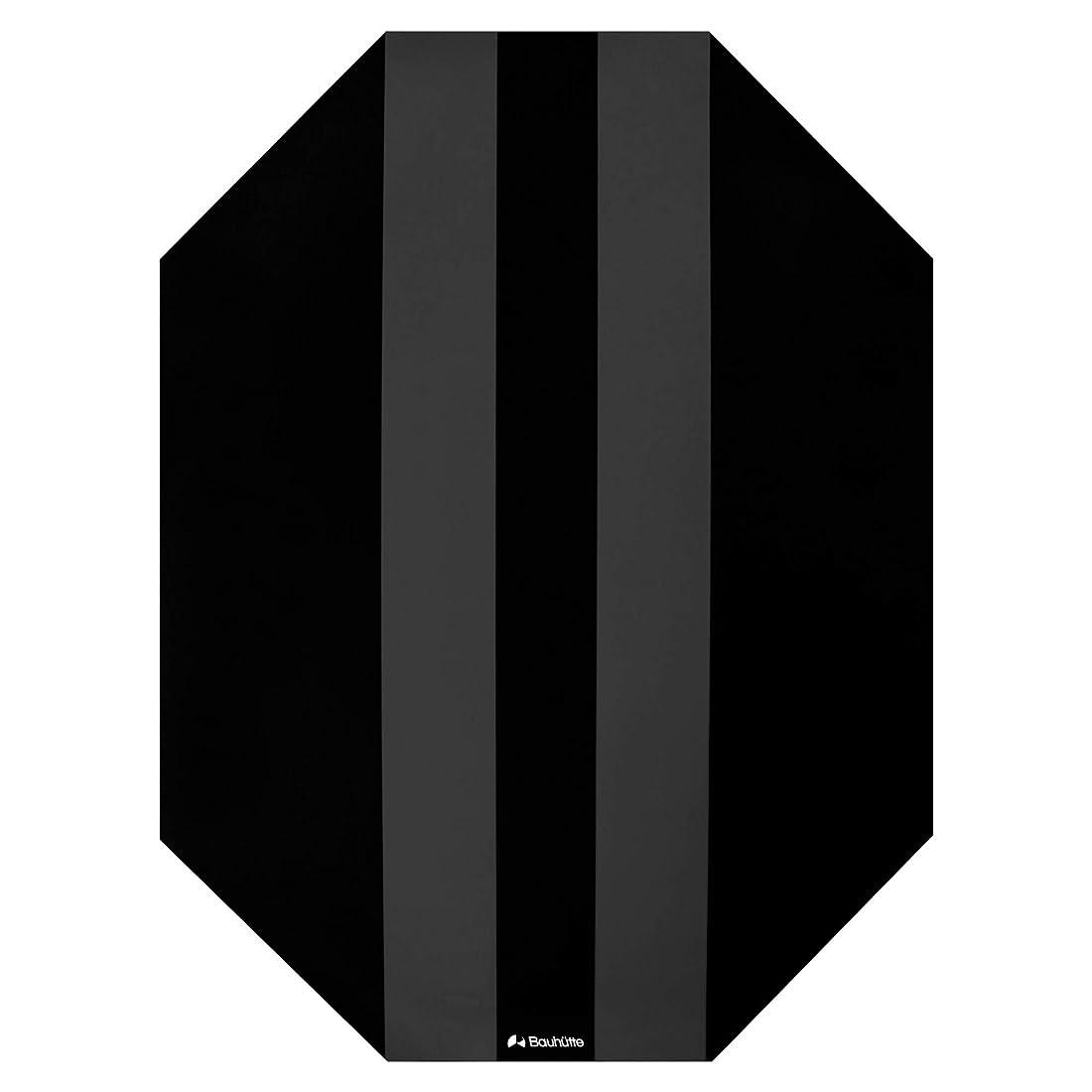 スペインフェード永遠にBauhutte (バウヒュッテ) ゲーミングチェアマット ブラック [厚め大型サイズ144×108㎝ 厚さ2mm] BCM-144BK