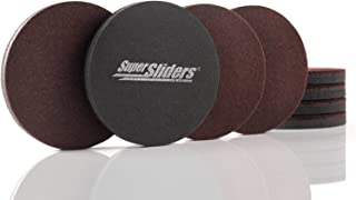 Super Sliders 4724595N Reusable Furniture Movers for Hardwood Quickly and Easily Move Items with Felt Floor Protectors, Br...