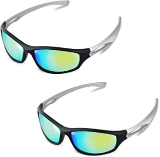 iPower GLGLSSGREENX2 2 Pack Indoor Hydroponics LED Grow Room Light Glasses Goggles Anti UV Reflection Visual Optical Protection (UV400), 2-Pack, Green