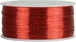 TEMCo 29 AWG Copper Magnet Wire - 1 lb 2465 ft 155°C Magnetic Coil Red