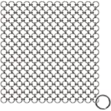 Blisstime Cast Iron Cleaner, Premium Stainless Steel Chainmail Scrubber , Upgrade