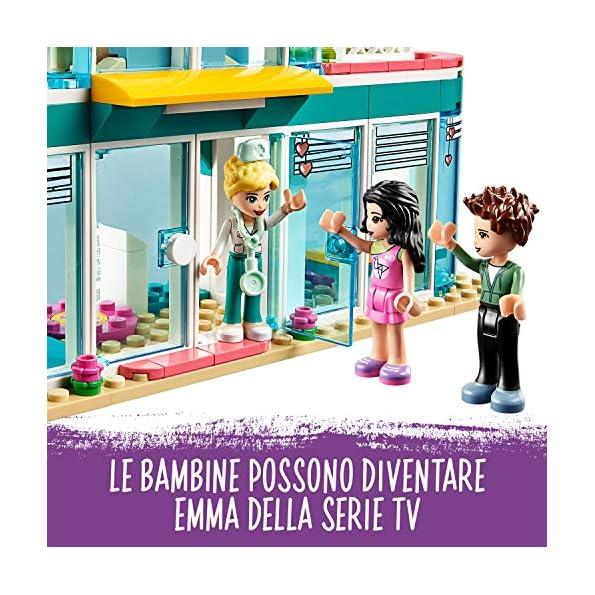LEGO-Friends-Lospedale-di-Heartlake-City-con-Emma-Ethan-e-la-Dottoressa-Maria-Set-di-Costruzioni-per-Bambine-6-Anni-Idea-Regalo-per-le-Piccole-Dottoresse-e-per-gli-Appassionati-41394