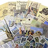 Stosts Vintage Scrapbooking DIY Stickers Pack, Decorative Antique Retro Collection, Diary Journal Embellishment Supplies, Washi Paper Sticker for Art Craft Notebook Album Invitations Gift Pack