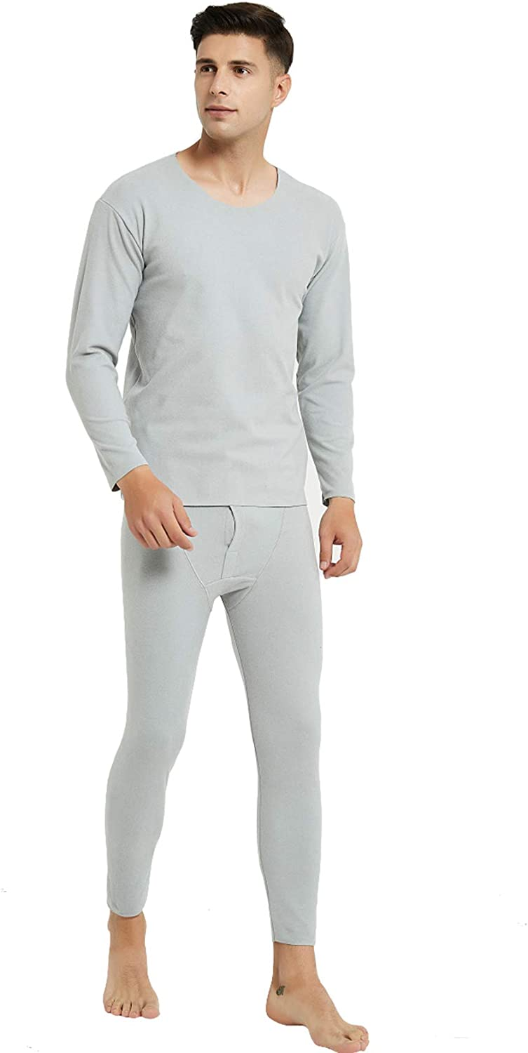 Baixnsj Men's Long Sleeve Top and Long Trousers Thermal Sets