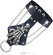 LLXXYY Lederen Armband, Zwart Lederen Bangle Unise...