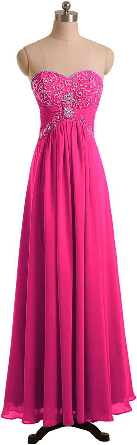 DINGZAN Evening Formal Wedding Guest Dresses for Bridesmaid Ankle Length