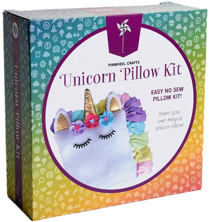 Pinwheel Crafts Unicorn Ranking TOP2 Pillow Kit Girls - for Beauty products Gifts U