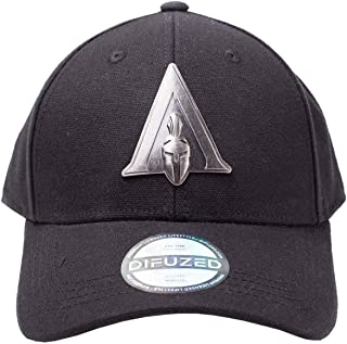 Assassins Creed Odyssey Baseball Cap Metal Badge Logo Official Black Curved Bill