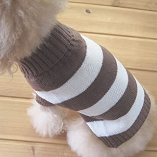 Tangpan Turtleneck Stripes Pet Clothes Dog Wool Classic Sweaters