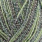 BambooMN Baby Weight Bamboo Fiber Yarn - 993 Mint Dark Chocolate - 2 Skeins
