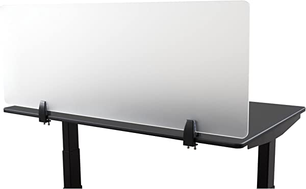 Desk Mounted Privacy Panel Frosted Desk Divider And Office Partition For Desks Up To 1 Thick 48 Wide Frosted