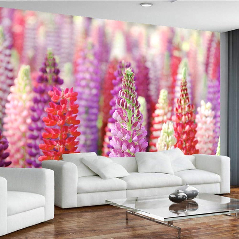alta calidad Dalxsh Fondo De Pantalla Moderno Moderno Moderno 3D Personalizado Para La Sala De Estar Flor púrpuraa Hermosa Tv Fondo Dormitorio Parojo Mural Papel Tapiz-200X140Cm  tienda de bajo costo