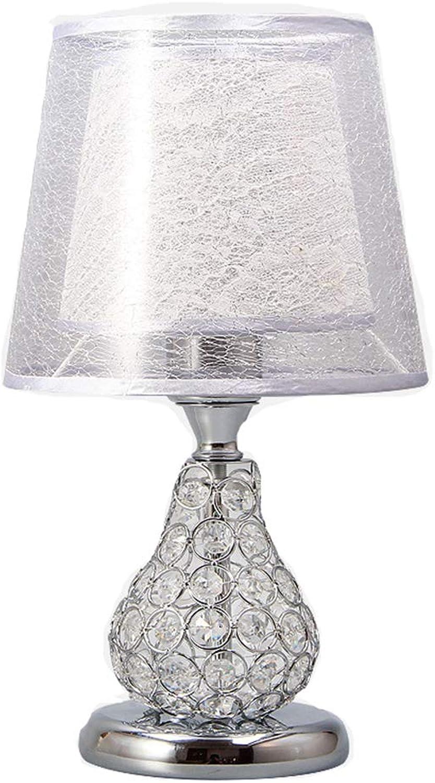 JAY-LONG Led Kristall Tischlampe, Nachttischlampe, Fernbedienung Schreibtischlampe, Romantische Hochzeit Dekor Lampe, Hause Beleuchtung, 110-240 V, 20  36 cm,Silber