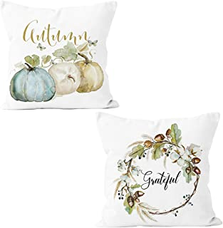 Orgrimmar Pillow Case Fall Theme Throw Pillow Cover Cushion Cover 18 x 18 inch (Wreath)
