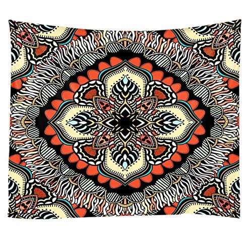 Geometry Indian Mandala Tapiz para colgar en la pared, color morado brillante, manta de playa, manta de camping, tienda de campaña, colchón de viaje bohemio