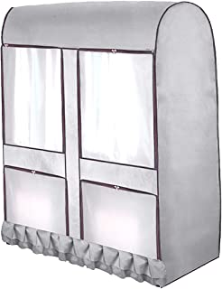 Cabilock Clothes Cover Clear Wardrobe Cover Clothes Cover Oxford Clothing Rack Dust Cover Moisture Waterproof Hanging Garm...