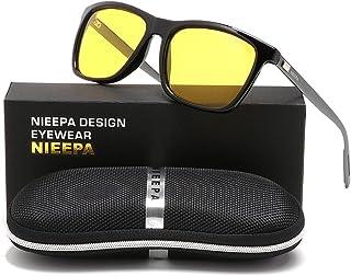 9efb18a1455 HD AL-MG Polarized Sunglasses Yellow Lens Driving Sun Glasses