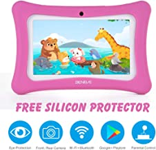 BENEVE Kids Tablet,Tablet for Kids with WiFi,7 inch Kids Edition Children Tablet,Quad Core,7'' HD Display,1GB+8GB,Dual Camera,Parental Control,Games, Protective Case, Best Gift for Kids(Pink)