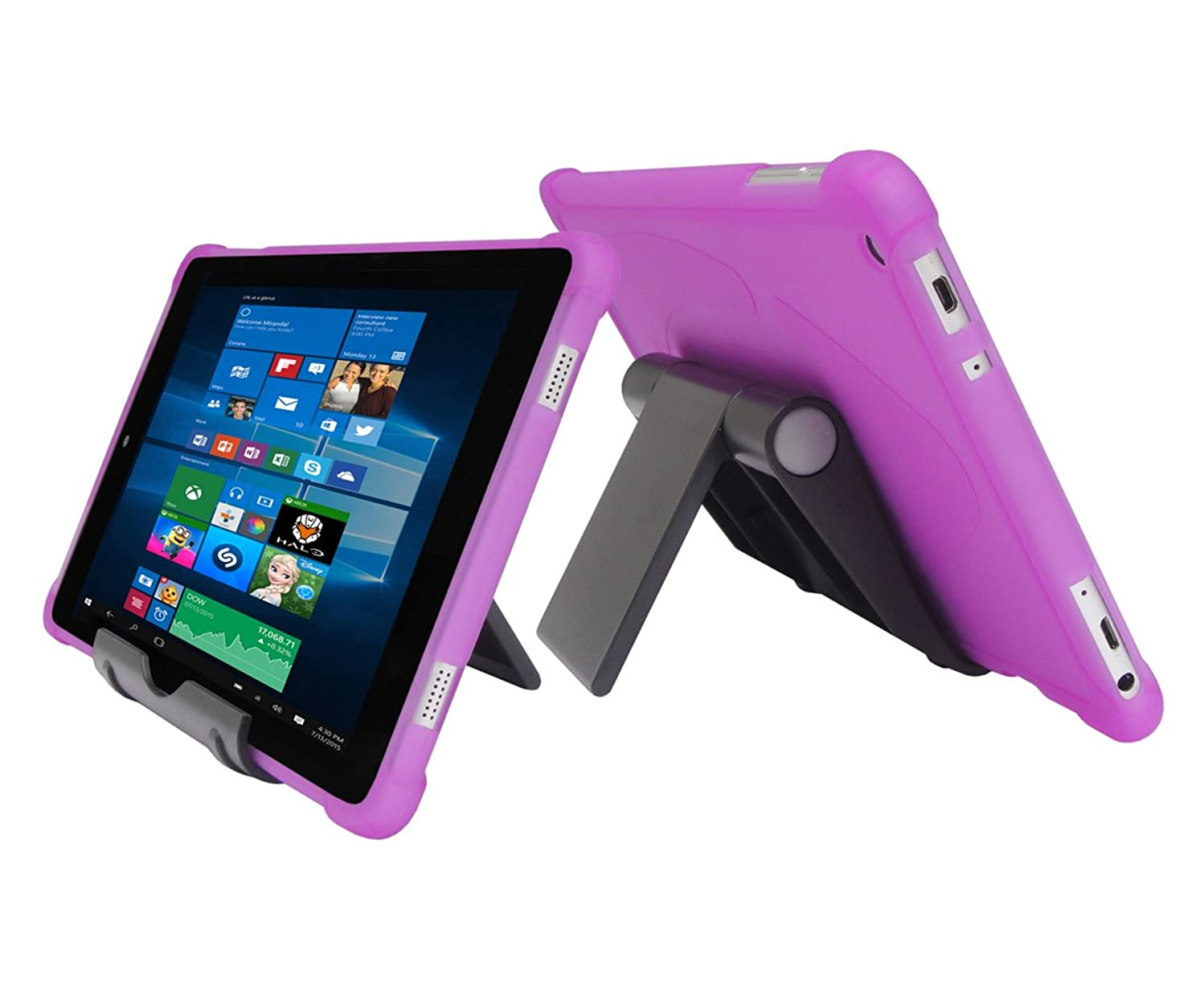 iShoppingdeals Protecive TPU Case + Adjustable Stand for Nuvision 8