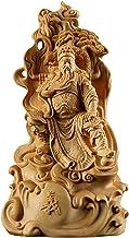 Rijkdom Geluk Standbeeld Buxus 15 cm Guan Gong Sculptuur Figuur Hout Guanyu Feng Shui Standbeeld De Drie Koninkrijken Coll...