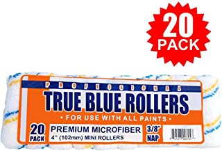 True Blue Professional Paint Roller Covers, Best for All Types of Paint (20, 4