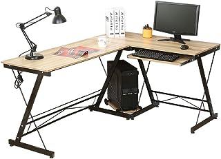 comprar comparacion HLC Mesa de Ordenador con Bandeja para Teclado y PC,161 cm Escritorio Amarillo