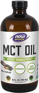 NOW Sports Nutrition, MCT (Medium-chain triglycerides) Oil, Vanilla Hazelnut, 16-Ounce