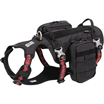 Chai's Choice Rover Scout High Performance Tactical Training Military Backpack - Service Dog Harness with Dupont Cordura Waterproof Fabric. Medium to Large Dogs.Please Use Sizing Chart at Left