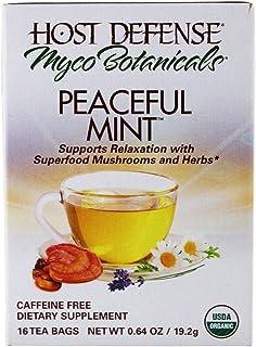 MycoBotanicals Peaceful Mint Tea Fungi Perfecti/Host Defense 16 Bags Box