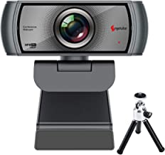 1080p 60fps Webcam with Microphone, Angetube Wide Angle Webcam with Tripod, Streaming Webcam 1080p 60fps with USB Webcam W...