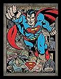 DC Comics FP11320P-PL Affiche Encadrée, Multicolore, 30 x 40 cm