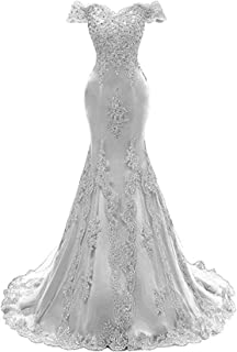 009e2acaae Scarisee Mermaid Off Shoulder Evening Party Prom Dress Lace Appliqued  BeadedA111