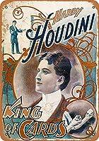 カードのハリーHoudiniキング金属サインレトロな壁の装飾ティンサインバー、カフェ、家の装飾