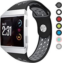 Meifox Compatible with Fitbit Ionic Bands,Soft Silicone Replacement Strap Accessory Breathable Wristbands for Fitbit Ionic Smart Watch
