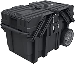 Husky 25 in. Great Design Heavy Duty Cantilever Mobile Job Tool Storage Organizer Box with Flip-Out Trays, Handle and Stronger Wheels