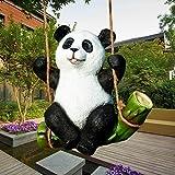 KINGEE Tierfigur Gartendeko Skulptur Aus Wetterfestem Polyresin Dekofigur Gartendekoration Dekofigur Koalabär Tierdeko Deko Garten Terrass Im Freien-Großer Koala Dekorationsfigur,Panda