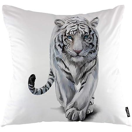 2 Travel Pillow Case Cover 14X20 Tiger White Orange Black Envelope Closure New z
