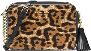 e5502d983f10 MICHAEL Michael Kors Ginny Leopard Calf Hair Crossbody - Butterscotch
