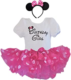 1st 2nd 3rd 4th 5th 6th Birthday Girl Shirt with Polka Dot Tutu and Headband 3 PCs Outfit Set