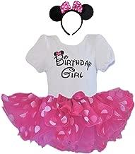 1st 2nd 3rd 4th 5th 6th Birthday Girl Shirt with Polka Dot Tutu and Headband 3 PCs Outfit Set
