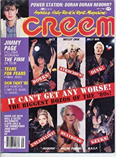 Creem Magazine BIGGEST BOZOS OF THE '80s Tears For Fears HALL & OATES JIMMY PAGE Power Station W.A.S.P. May 1985 C (Creem Magazine)