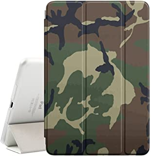 STPlus Army Camo Camouflage Pattern (Jungle Green #6) Smart Cover with Back Case + Auto Sleep/Wake Funtion + Stand for Apple iPad Pro (10.5