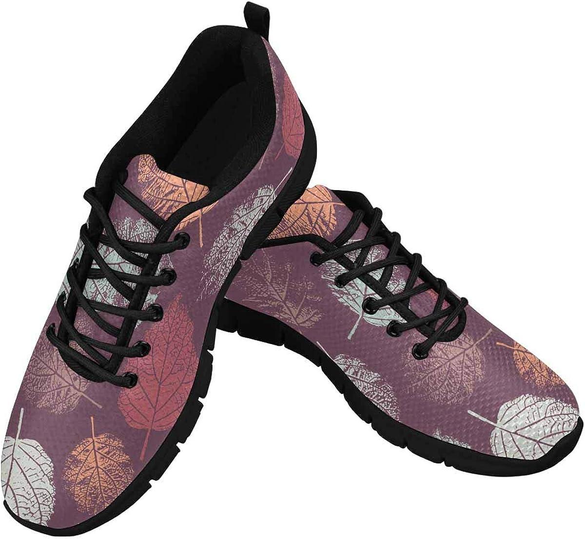 INTERESTPRINT Forest Leafs Women's Walking Shoes Lightweight Casual Running Sneakers