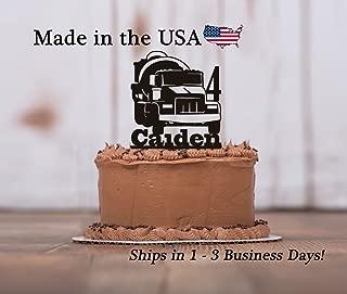 Concrete Truck Cake Topper with FREE Keepsake Base, Construction Theme, Birthday, Cake Topper, Dump Truck, Crane, Construction Decor, Concrete Trucking, Keepsake