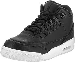 Nike Air Jordan 3 Retro Bg Boys Basketball-Shoes 398614-020_7Y - Black/Black White