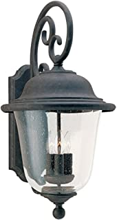 Sea Gull Lighting 8461-46 Trafalgar Three Light Outdoor Wall Lantern, Oxidized Bronze