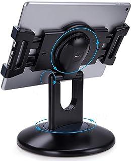 AboveTEK タブレット スタンド 360度回転 180°角度調整可能 iPad用(2つのサイズのブラケットが付属) ,卓上縦置きスタンド, タブレット置き台, ポータブル デスク台, 立てる, 対応6~13.5インチタブレット, アイフォ...